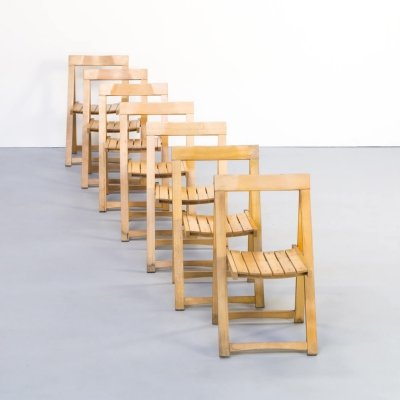Set of 7 Aldo Jacober folding chairs for Alberto Bazzani, 1960s