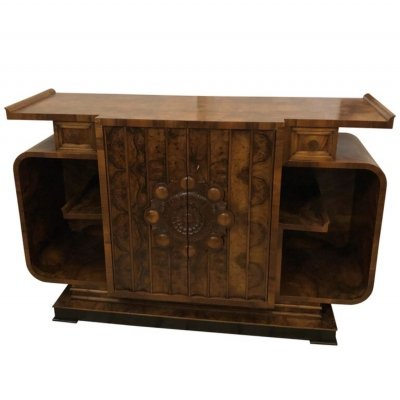 Art Deco Walnut Italian Sideboard, circa 1930
