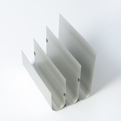 Aluminum Magazine Rack by Pierre Vandel
