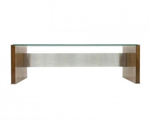Marco Fantoni Executive Writing Desk for Tecno in Wenge, Italy 1960s