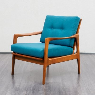Classic 1960s Armchair in Cherrywood