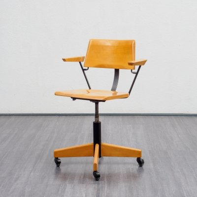 Vintage Mid-Century Stoll Giroflex desk chair with armrests, Switzerland 1960s