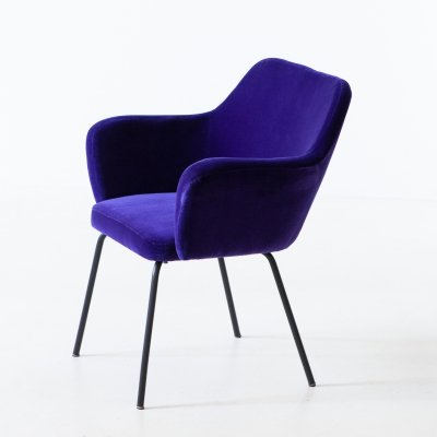 'Airone' Chairs in Purple Velvet by Studio PFR for Arflex, 1950s