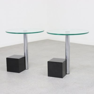 2 x HK-2 side table by Hank Kwint for Metaform, 1980s