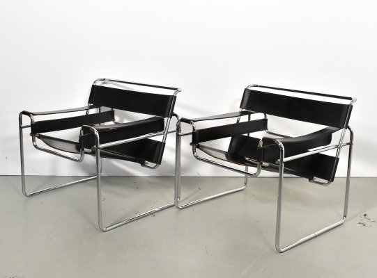2 x Wassily lounge chair by Marcel Breuer for Gavina, 1960s