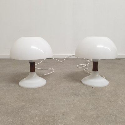 Vintage Mushroom Table Lamps by Bent Karlby for ASK Belysninger