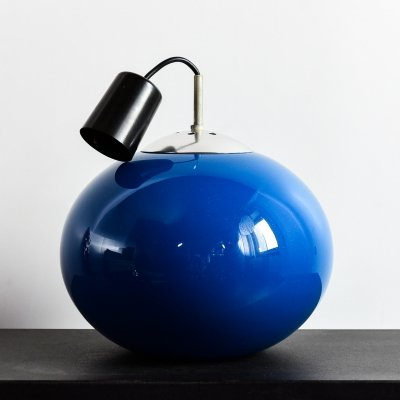 Hanging lamp in blue glass, 1970's