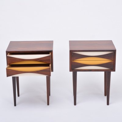 Pair of Rosewood nightstands by Niels Clausen, circa 1960s
