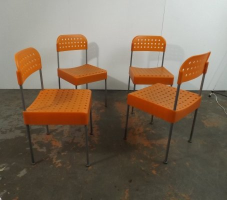 Set of 4 The Box dining chairs by Enzo Mari for Driade, 1970s