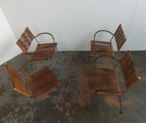 Set of 4 Miss B dining chairs by Tito Agnoli, 1980s