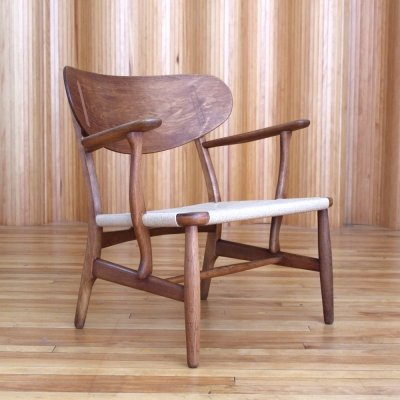 Hans Wegner CH22 oak lounge chair by Carl Hansen & Son, Denmark