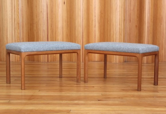 Pair of Aksel Kjersgaard model 382 oak stools