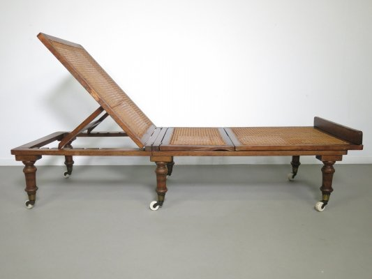 Victorian mahogany folding daybed by Robinson & Sons, 1920s