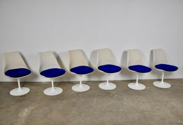 Set of 6 Tulip Dining Chairs by Eero Saarinen for Knoll International, 1960s