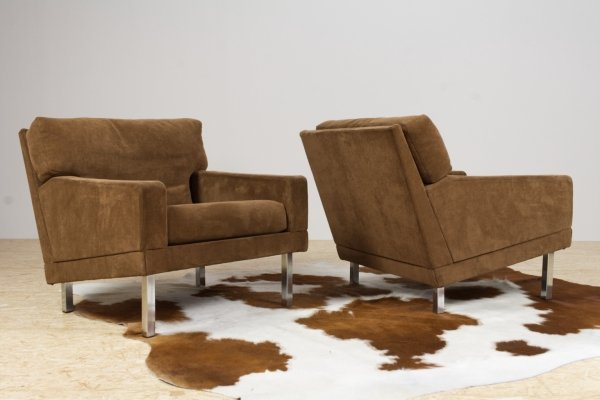 Chocolate Brown Armchairs by Poul Nørreklit for Selectform, 1960s