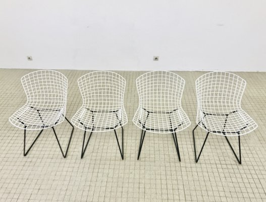Set of 4 Model 420 side chairs by Harry Bertoia for Knoll, 1960s