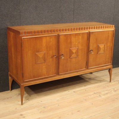 20th century Italian design sideboard in cherry & exotic wood, 1950