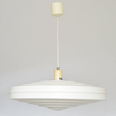 White Pendant Lamp by Aloys F. Gangkofner for Erco Leuchten, Germany 1962
