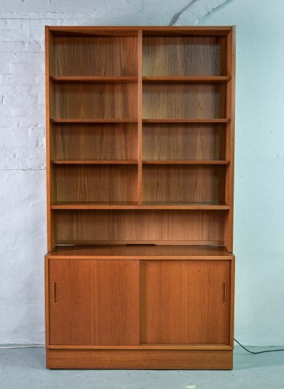 Pair of Teak Wooden Bookcase Cabinets by Poul Hundevad, Denmark 1960s