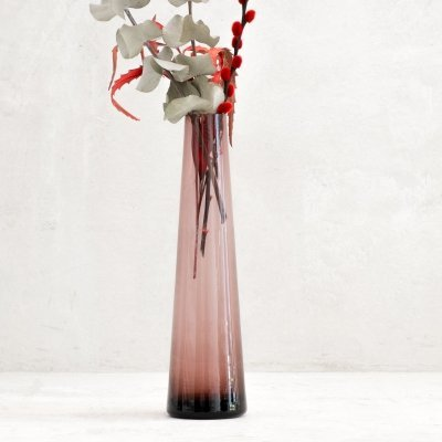 Mid Century purple glass vase by Ingrid Glashütte, 1970s