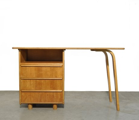 Oak 'EE02' desk by Cees Braakman for Pastoe, 1950s