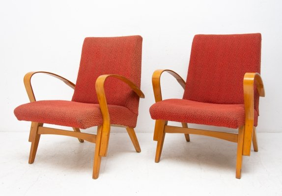 Pair of arm chairs by František Jirák for Tatra Nabytok Pravenec, 1970s