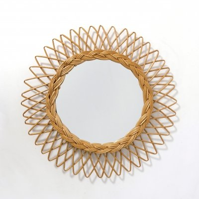French sun shaped mirror, 1960s