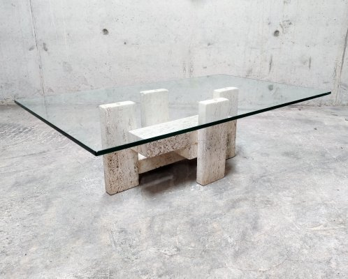 Brutalist coffee table by Willy Ballez, 1970s