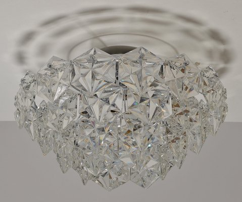 Chandelier in faceted Crystal produced by Kinkeldey, 1970s