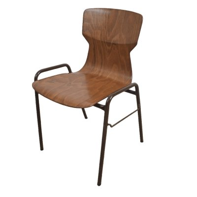 30x Brown industrial school chair by Eromes