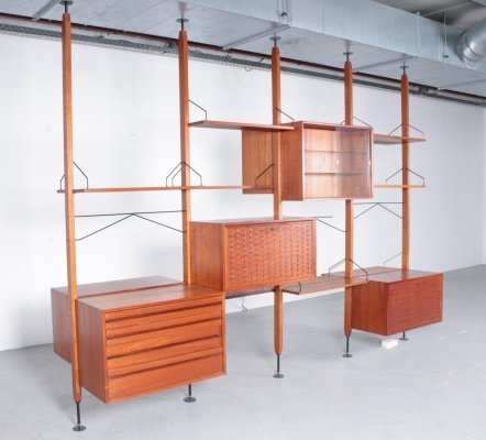 Big 'Royal system' roomdivider by Poul Cadovius in teak, 1950s