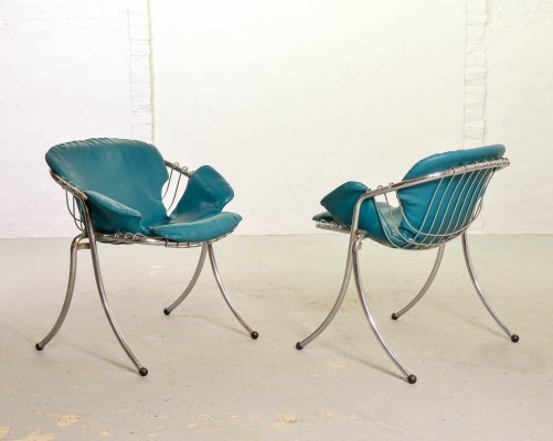 Gastone Rinaldi Italian Design Dining Chairs Model Lynn for Rima, Italy 1960s