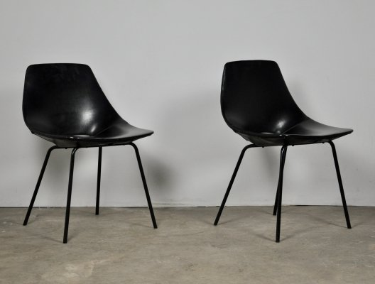 Tonneau Chairs by Pierre Guariche for Steiner, 1950s