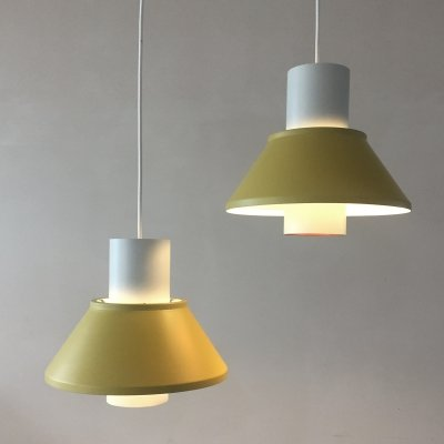 Set of 2 Life hanging lamps by Jo Hammerborg for Fog & Morup Denmark, 1960s