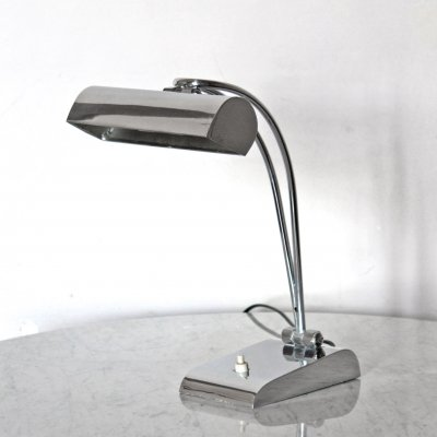 1950s vintage chromed table lamp