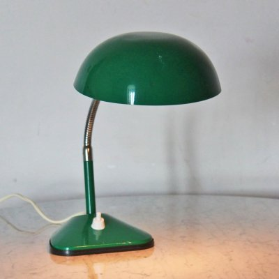 Vintage green table lamp, 1950