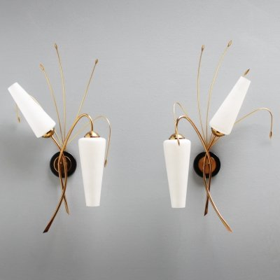 Pair of elegant French sconces by Maison Arlus