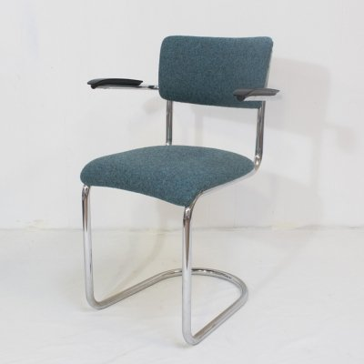 Gispen 208 tube frame officechair, 1930s