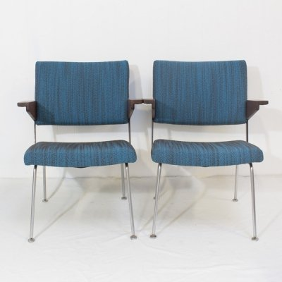 Pair of Gispen 1268 conference chairs, 1963