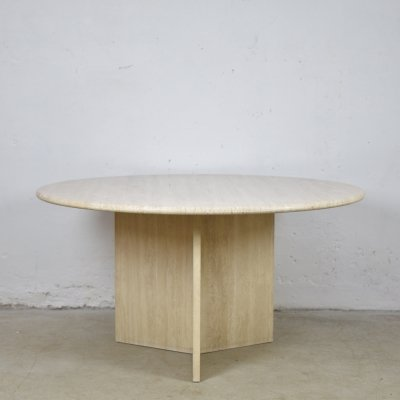 Travertine dining table, Italy 1960's