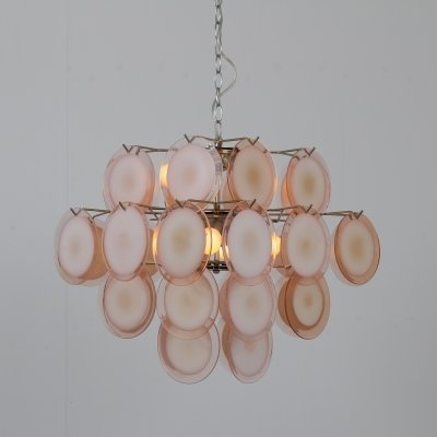 Murano glass chandelier by Vistosi, Italy 1970s