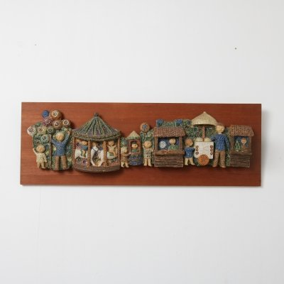 Ceramic wall decoration, the Netherlands 1950s