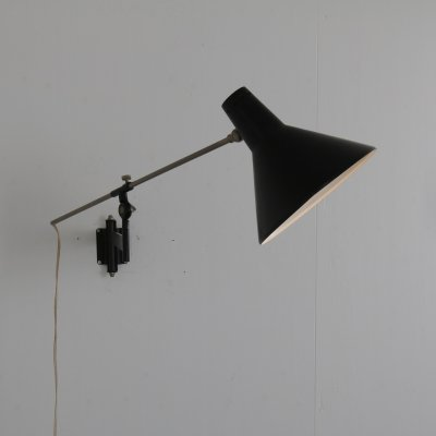 Dutch adjustable wall lamp by Floris H. Fiedeldij for Artimeta, 1950s