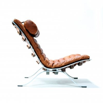 Cognac Leather Ari Chair by Arne Norell for Norell Möbel AB, 1960s