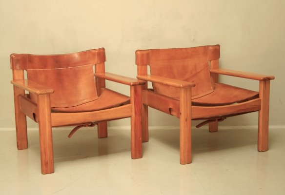 Pair of Natura lounge chairs by Karin Mobring for IKEA, 1970s