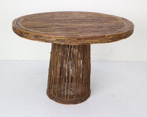Organic Rose Branches Round Dining Table, France 1930s
