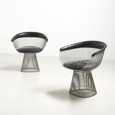 Pair of dining chairs by Warren Platner for Knoll, 1960s