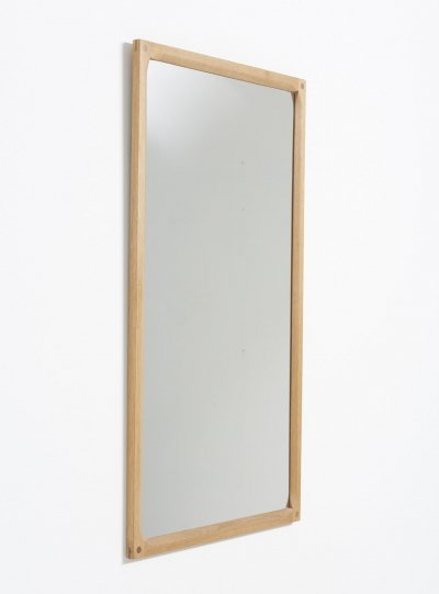 Mirror in oak by Kai Kristiansen for Aksel Kjersgaard, 1950s