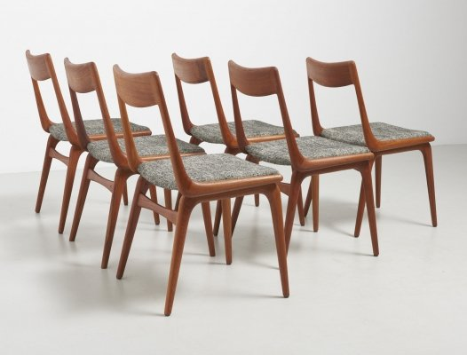Set of 6 boomerang chairs by Alfred Christensen, 1950s