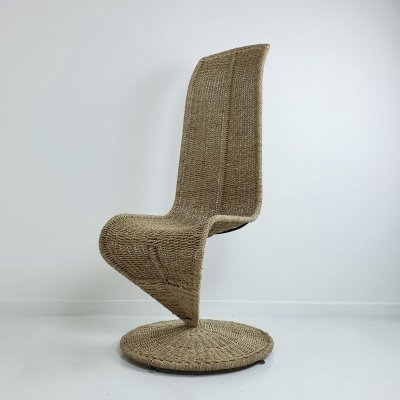 Mid Century Woven Rope 'S' Chair by Marzio Cecchi, Italy 1970s